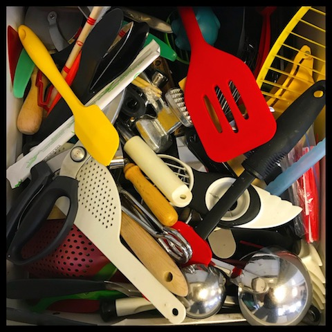 messy drawer clutter